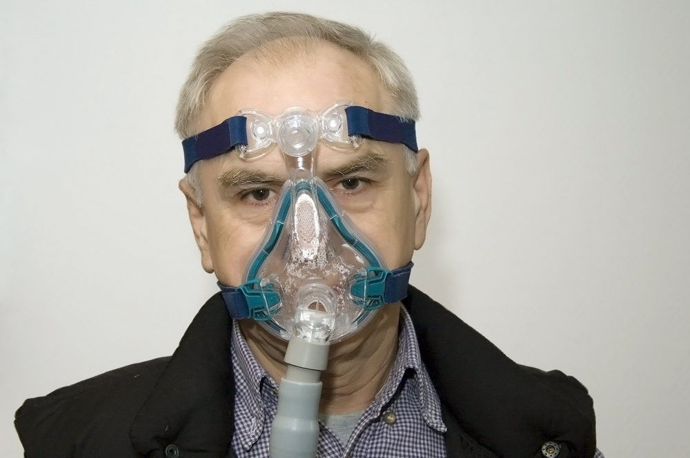 frustrated cpap wearer