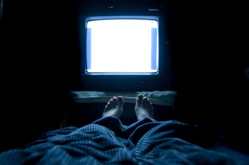 Watching TV in bed affects falling asleep.