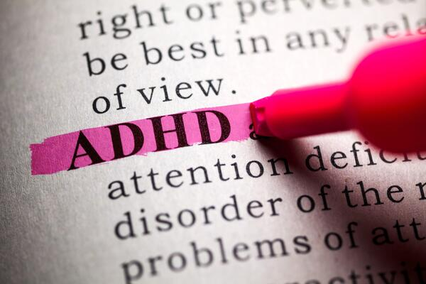 Highlighted definition of ADHD.