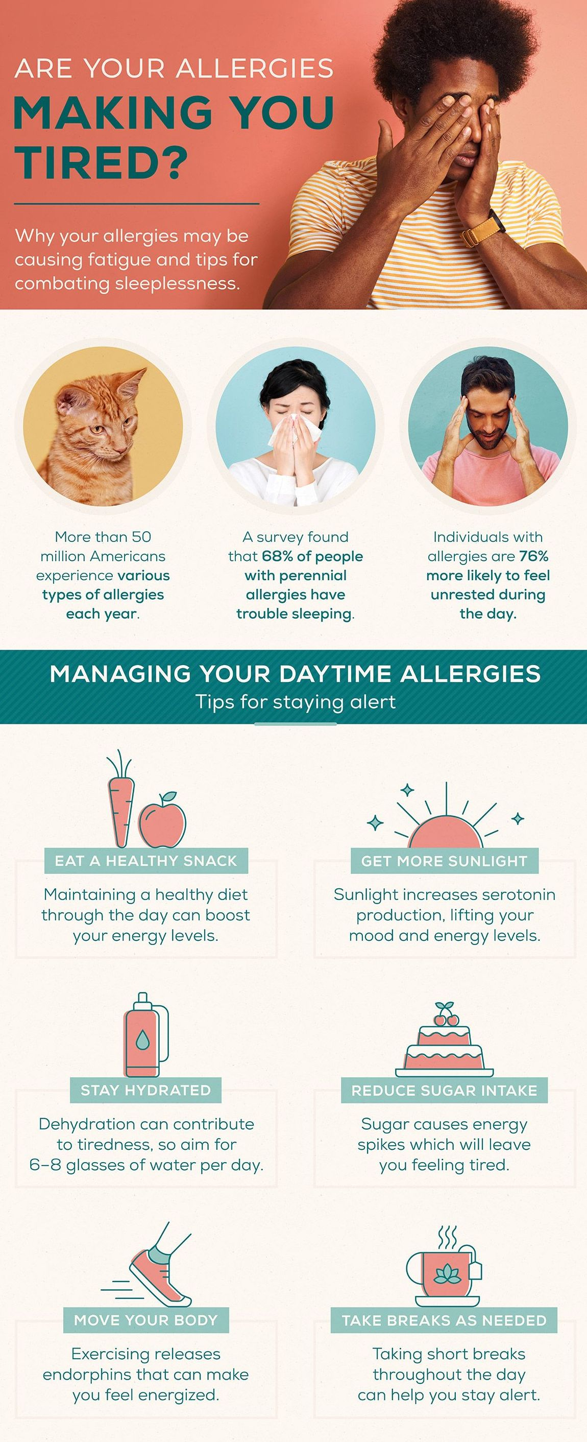 Allergies and Sleep Infographic