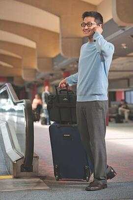 Man traveling with his CPAP