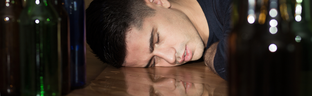 Young man unable to stay awake.