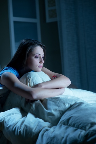Young woman suffering from insomnia.