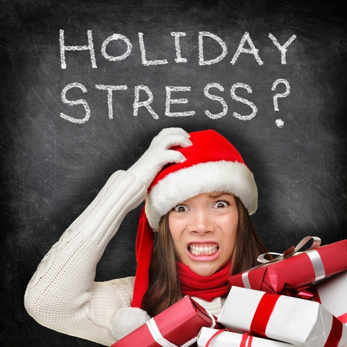 It's easy to be stressed during the holidays.