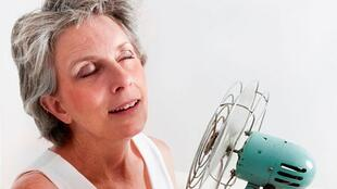 Menopause leads to hot flashes.
