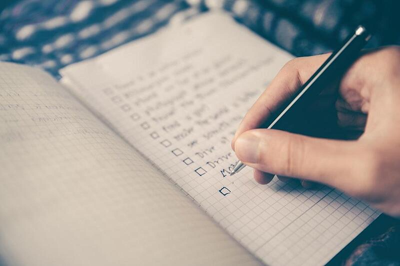 Keeping a to do list is essential
