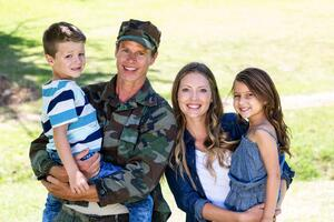 Happy military family.