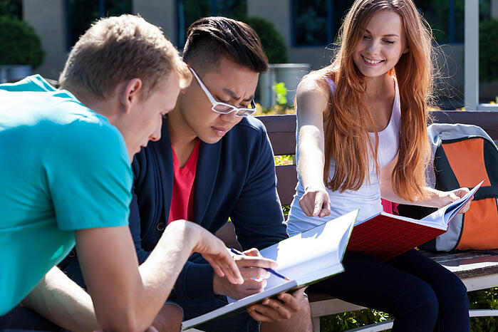 Students studying for their upcoming class.