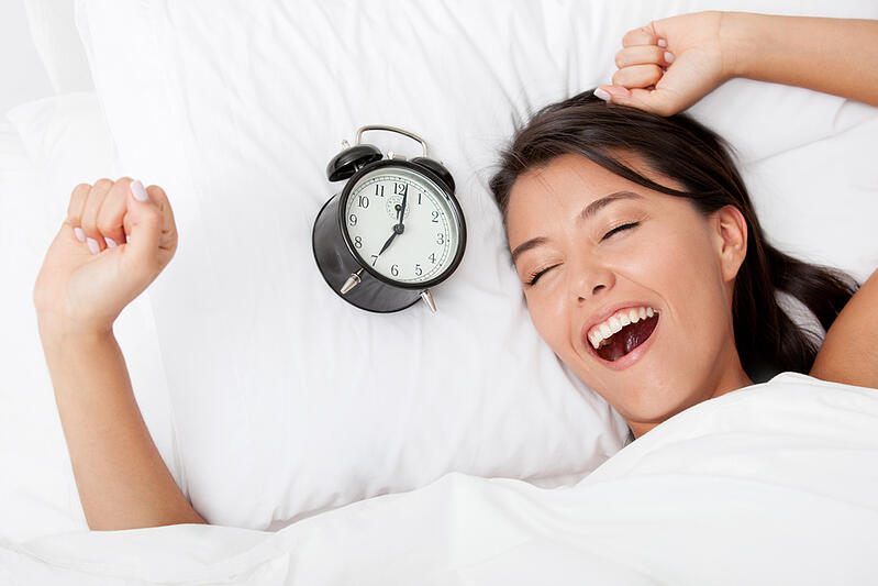 Time to wake up for a beautiful woman sleeping-1