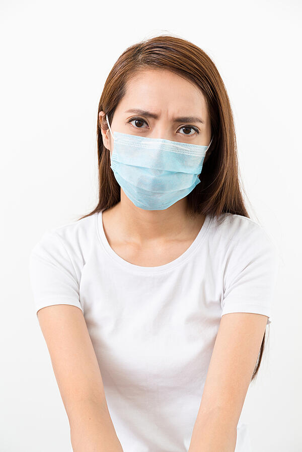 Woman wear mask with eye frown-1