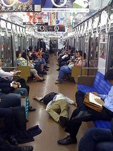 Napping on the subway.