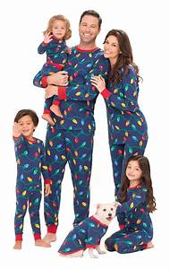 Cute family in matching pj's.